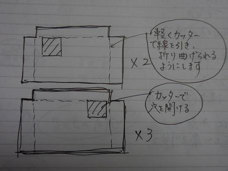 作り方の図面