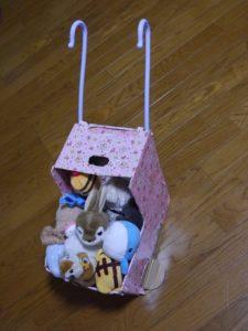 段ボールで作ったベビーカー(その後)
