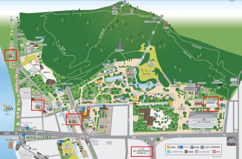 岐阜公園案内図
