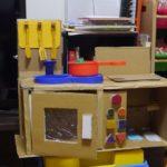 段ボール工作 キッチンをつくっておままごとで遊ぼう!簡単な作り方