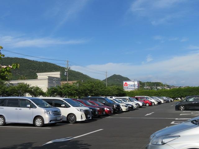 長良公園の駐車場(西)