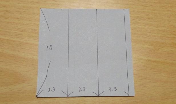 三角柱の厚紙