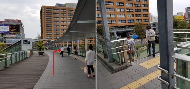 バス停への行き方(JR)